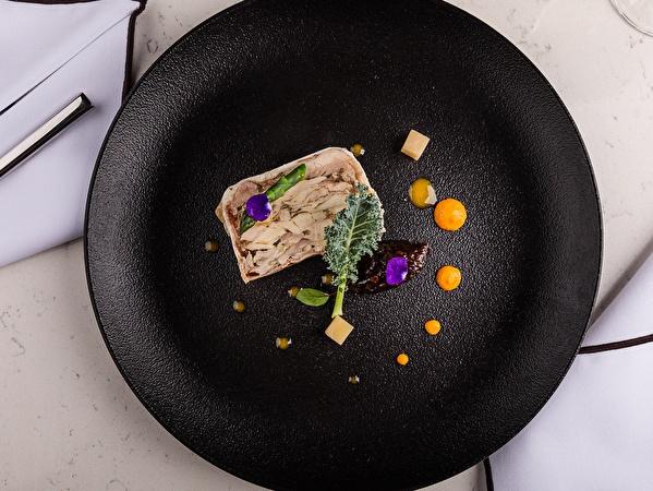 Confit chicken & rabbit terrine
